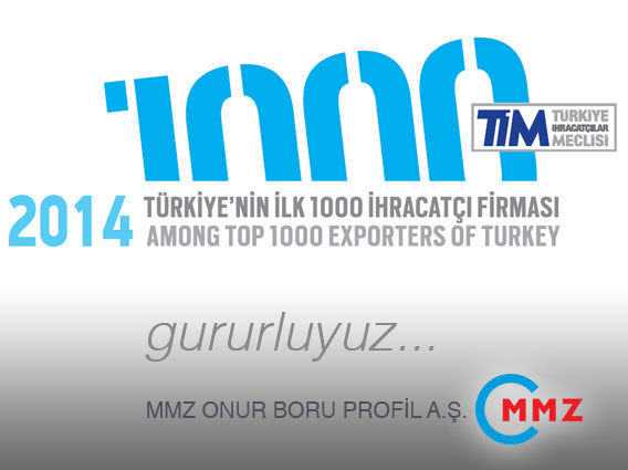 MMZ, Türkiye'de ilk 1000 ihracatçı firma arasında.